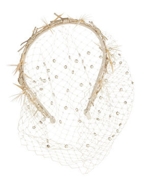 Gigi Burris Gemini Violette Headband with Veil