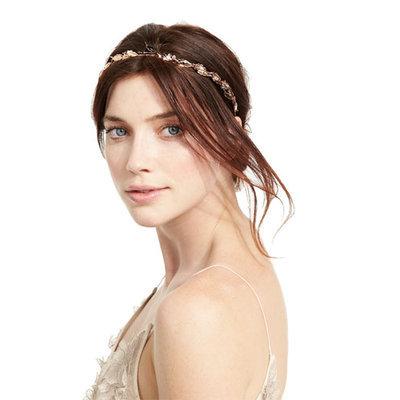 Jennifer Behr Laurel Leaf Headband, Rose Golden