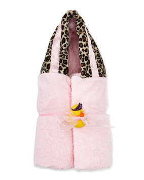 Swankie Blankie Cheetah-Print Hooded Towel