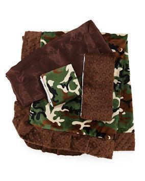 Swankie Blankie Camouflage Receiving Blanket, Blue