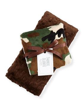 Swankie Blankie Camouflage Burp Cloth Set, Brown