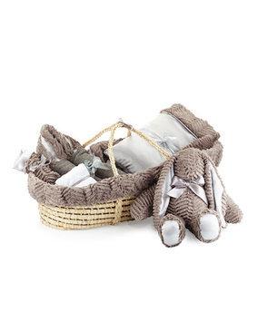 Swankie Blankie Ziggy Plush Gift Basket, Slate
