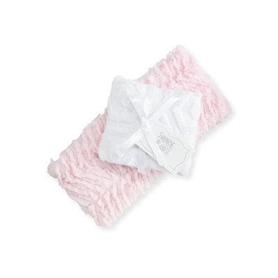 Swankie Blankie Ziggy Burp Cloth Set, Pink