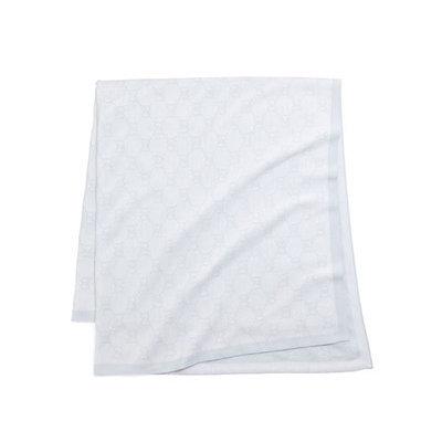 Gucci GG Logo Baby Blanket, Ivory/Gray