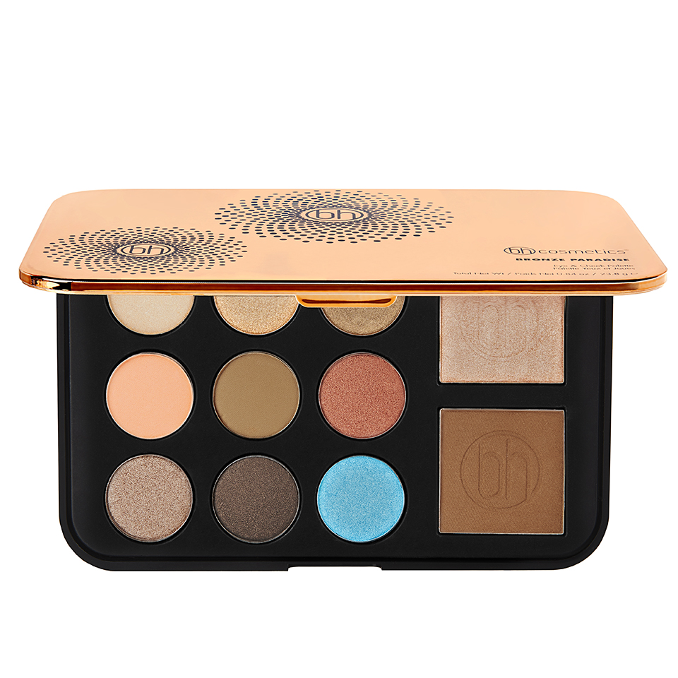 BH Cosmetics Bronze Paradise Eyeshadow, Bronzer & Highlighter Palette