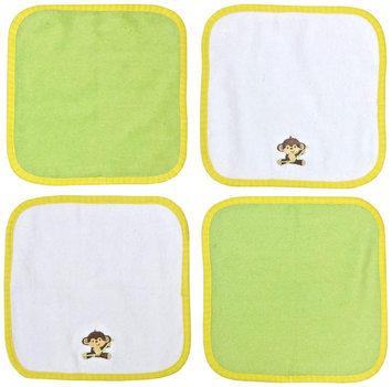 Hamco Neat Solutions Monkey 4-Pack Washcloth Set