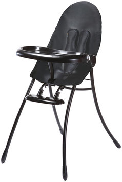 Bloom Nano Urban Highchair - Black Frame & Snake Skin Grey Seat