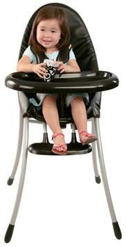 bloom nano Urban High Chair in Matte Black/Snakeskin