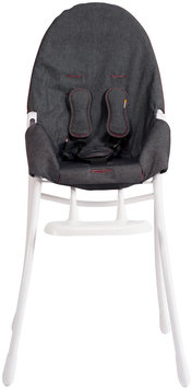 Bloom Nano Urban Highchair - White Frame & Denim Seat