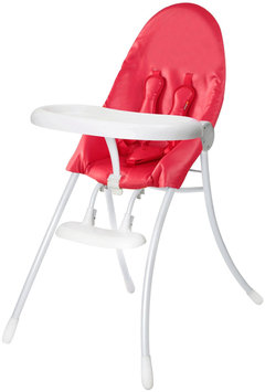 Bloom Nano Urban Highchair - White Frame & Red Seat