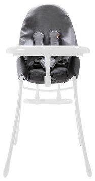 Bloom Nano Urban Highchair - Black Seat - Matt White Frame