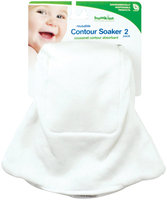 Bumkins Reusable Cloth Diaper Contour Soaker - Newborn 2ct.