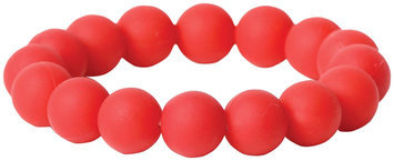Bumkins Nixi Tondo Silicone Bracelet - Red - 1 ct.
