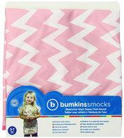 Bumkins Short Sleeved Bib - Pink Chevron - Girl - 1 ct.