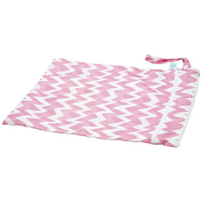 Bumkins Wet Dry Bag - Pink Chevron - 1 ct.