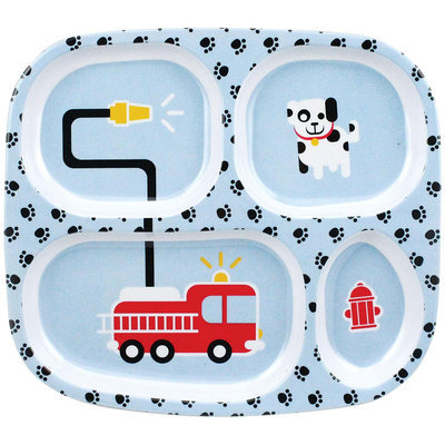 Bumkins Melamine Plate - Fire Engine - 1 ct.