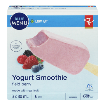 President's Choice Blue Menu Low Fat Yogurt Smoothie Field Berry