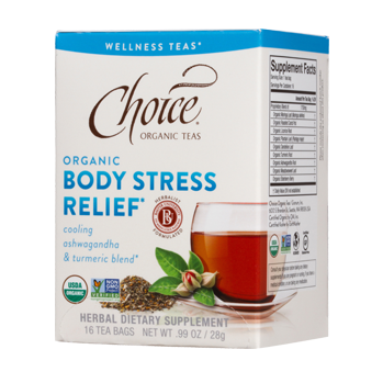 Choice Organic Teas Body Stress Relief Wellness Tea