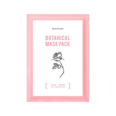 BONVIVANT Rose Botanical Mask Pack