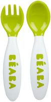 BEABA Soft Spoon & Fork Set - Stage 2 - Sorbet - 2 ct