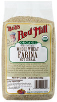 Bob's Red Mill Organic Whole Wheat Farina, 24 oz