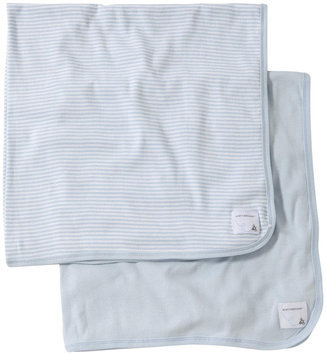 Burt's Bees Baby 2pk Single Ply BlanketPatch - Solid Sky