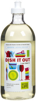 Better Life Dish It Out Liquid Dish Soap, Unscented