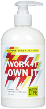 Better Life Work It Own It Lotion Sage 12 fl oz