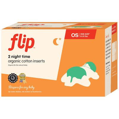 Bumgenius Flip Organic Cotton Night Time Inserts - 2ct