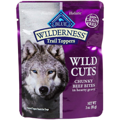 Blue Buffalo Wilderness Wild Cuts Trail Toppers Chunky Bites in Hearty Gravy - Beef - 24 x 3 oz 75