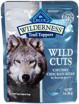 Blue Buffalo Wilderness Wild Cuts Trail Toppers Chunky Bites in Hearty Gravy - Chicken - 24 x 3 oz 75