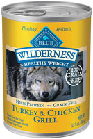 Blue Buffalo Wilderness Adult Healthy Weight Grain Free - Turkey & Chicken - 12 x 12.5 oz 150