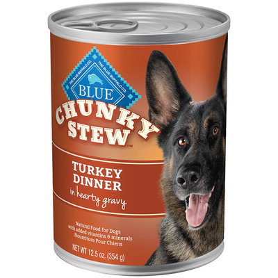 THE BLUE BUFFALO CO. BLUE™ Chunky Stew™ Turkey Dinner For Adult Dogs