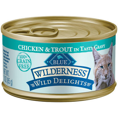 Blue Buffalo BLUE Wilderness Wild Delights Minced Chicken and Trout