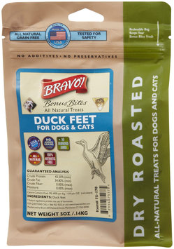 Bravo! Bonus Bites Dry Roasted Treats - Duck Feet - 5 oz