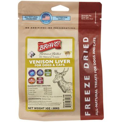 Bravo! Bonus Bites Freeze Dried Treats - Venison Livers - 3 oz