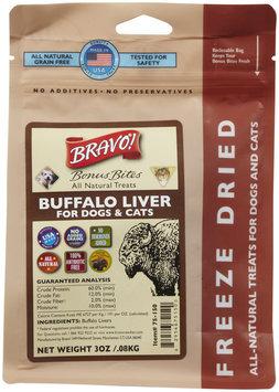 Bravo! Bonus Bites Freeze Dried Treats - Buffalo Livers - 3 oz