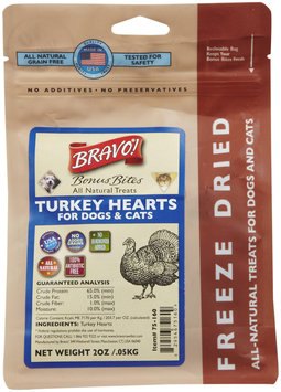 Bravo! Bonus Bites Freeze Dried Treats - Turkey Heart - 2 oz
