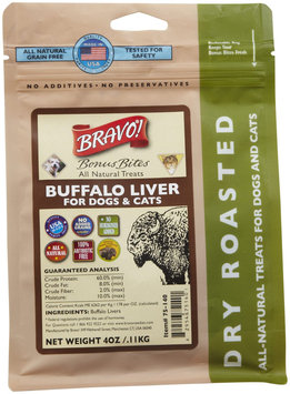 Bravo! Bonus Bites Dry Roasted Treats - Buffalo Liver - 4 oz