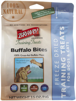 Bravo! Premium Freeze-Dried Training Treats for Dogs - Buffalo - 2.5 oz