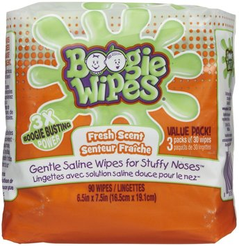 Boogie Wipes Gentle Saline Wipes - Fresh Scent - 90 ct