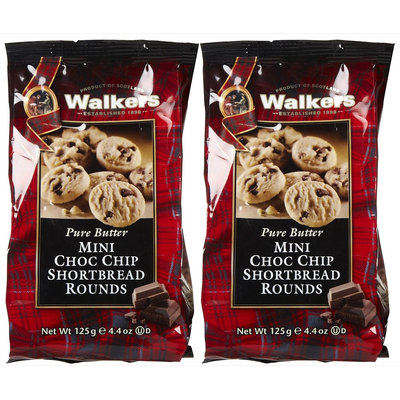 Walker's Walkers Mini Shortbread Chocolate Chip Rounds, 4.4 oz - 2 pk.