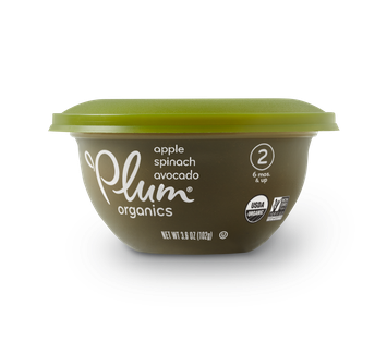 Plum Organics Baby Bowls Apple, Spinach & Avocado