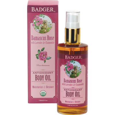 BADGER® Damascus Rose Body Oil