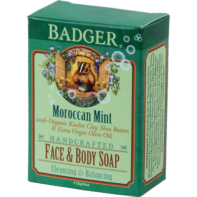 BADGER® Face & Body Soap - Moroccan Mint