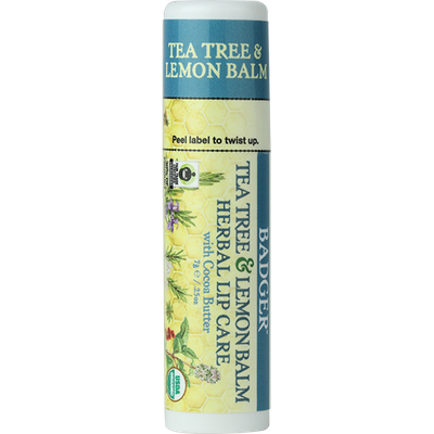 BADGER®  Herbal Lip Care  with Cocoa Butter Lip Balm