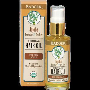 Badger Balm Jojoba Hair Oil for Dry Scalp