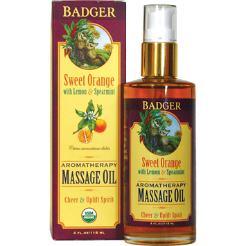 BADGER® Organic Massage Oil - Sweet Orange