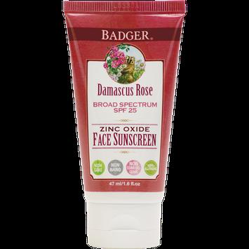 Badger Balm SPF25 Rose Face Sunscreen