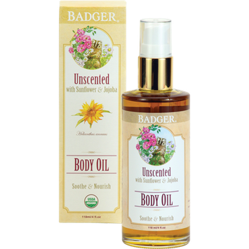 Badger Balm Unscented Body Oil